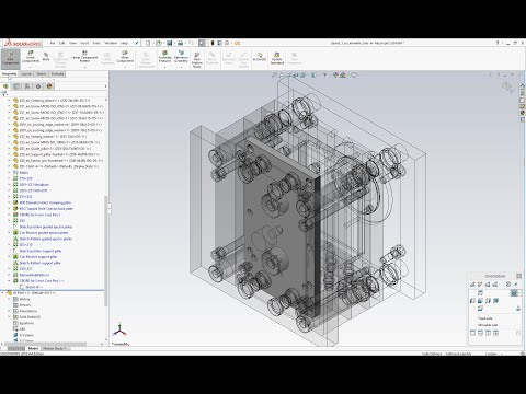 Tutorial mold design using SolidWorks mold base assembly