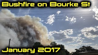 Bushfire in the Lower Hunter, NSW, Australia (January 2017)