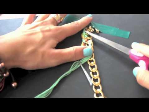 DIY~ Woven Chain Bracelet ✿