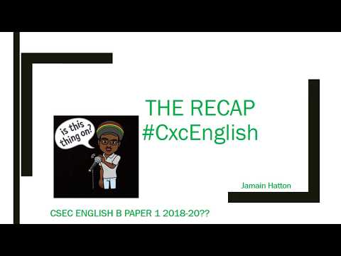 CSEC English B Paper 1 2018 Format YouTube