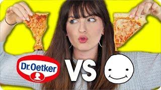 LUCA Concrafter Pizza VS normale Tiefkühlpizza