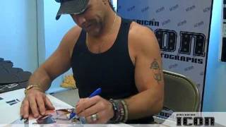 shawn michaels private signing for american icon autographs june 21 2011