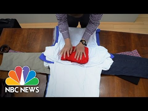 Asian shirt folding video