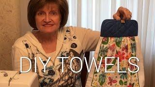 DIY Hanging Kitchen Towels