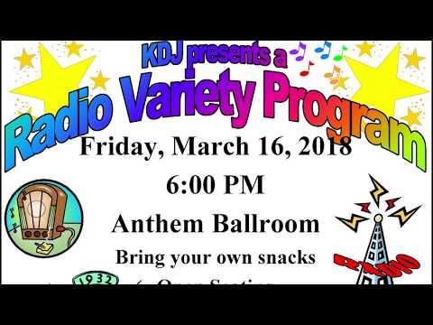SCA Radio Variety Program 2018