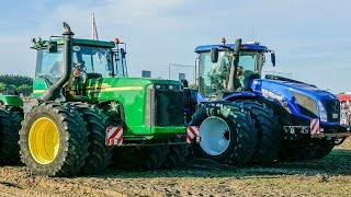 TRACTOR PULLING | John Deere 9520 vs New Holland T9.565 | Claas 95E
