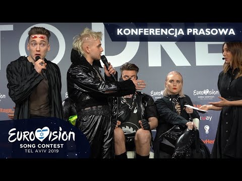 Question about Palestine disturbs Hatari's press conference (Eurovision 2019, Iceland)