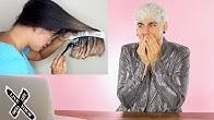 HAIRDRESSER REACTS TO DIY BOX DYE OMBRE FAILS! |bradmondo