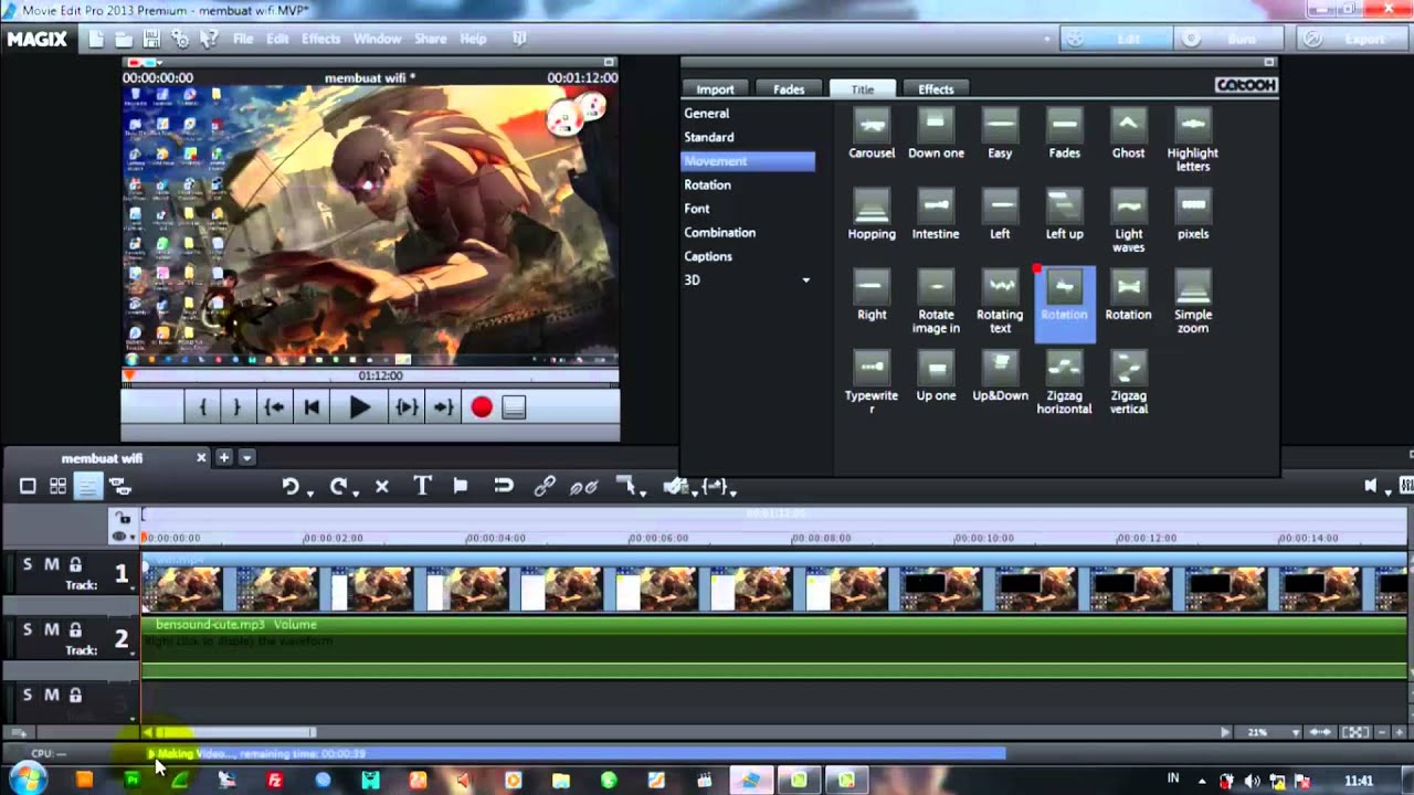How To Export Video To Mp4 Magix Movie Edit Pro