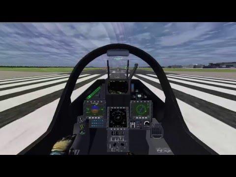 FlightGear 2016.1 - Caça Dassault Mirage 2000-5