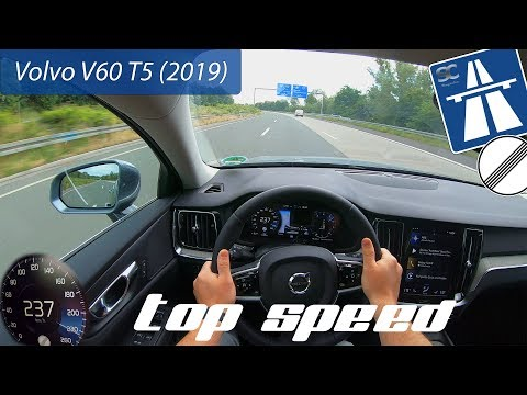 Volvo V60 T5 (2019) On German Autobahn - POV Top Speed Drive