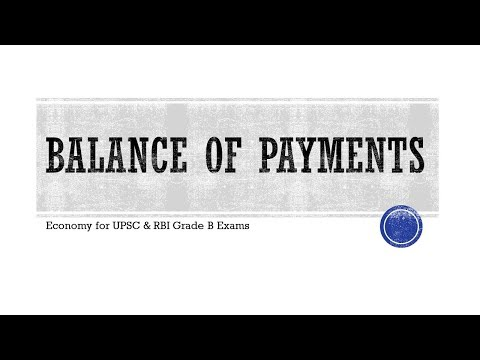Indian Economy - Balance of Payments