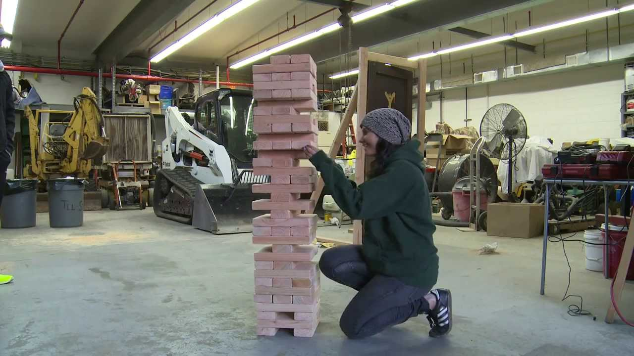 How to build and play a life size jenga game youtube solutioingenieria Gallery