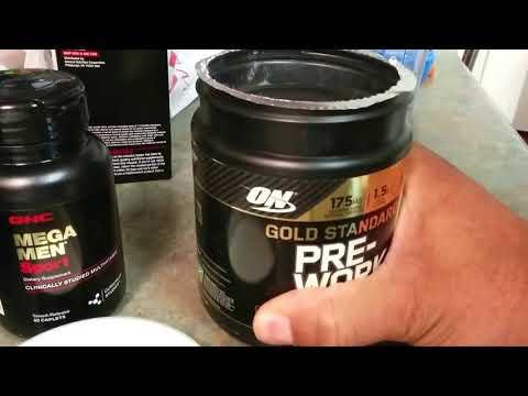 GNC - Pickups Mega Men Sport Multivitamin & Optimum Nutrition Gold Standard Preworkout 🏋 Supplement