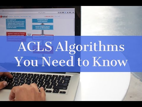 acls algorithms you need to know and study tips youtube
