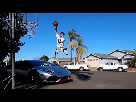 I ACTUALLY DUNKED OVER MY LAMBORGHINI!! **NOT CLICKBAIT**