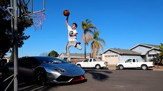 I ACTUALLY DUNKED OVER MY LAMBORGHINI!! **NOT CLICKBAIT** | FaZe Rug