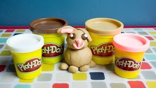 How to Make Play Doh Characters - Bunny Rabbit!