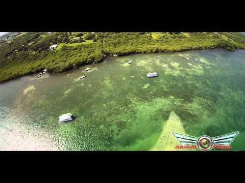 "Aerial Flight With ""Phantom 2"" Gopro 4 - No Mans Island - TOBAGO -  4K"