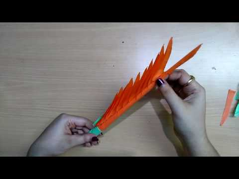 How to make flower with paper strips|Quick and easy paper art|Indian paper art video