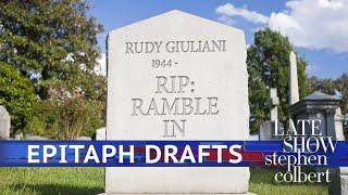 Rudy Giuliani's Gravestone: The Rough Drafts