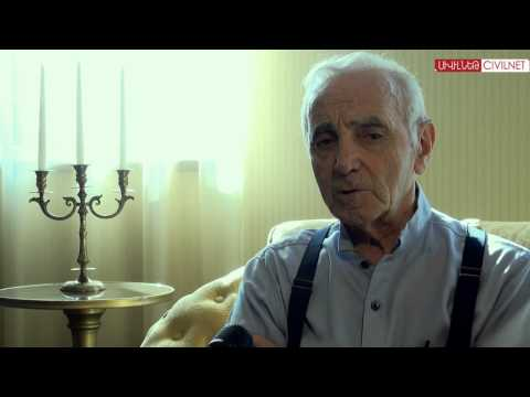 Charles Aznavour Talks to CivilNet