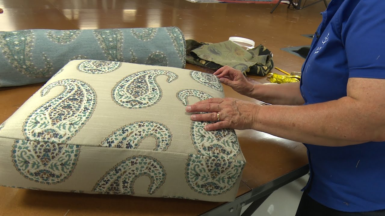 How to Recover a Cushion on a Recliner - YouTube