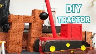 Como fazer Caminhão de Papelão | DIY Trator de Demolição