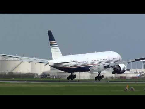Privilege Boeing 777-200 EC-MIA Landing Amsterdam Schiphol 36R
