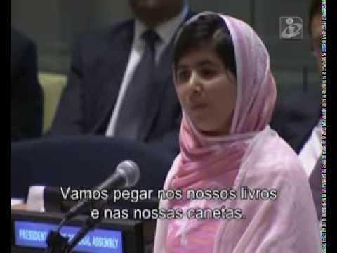Malala Yousafzai faz discurso na ONU por educação