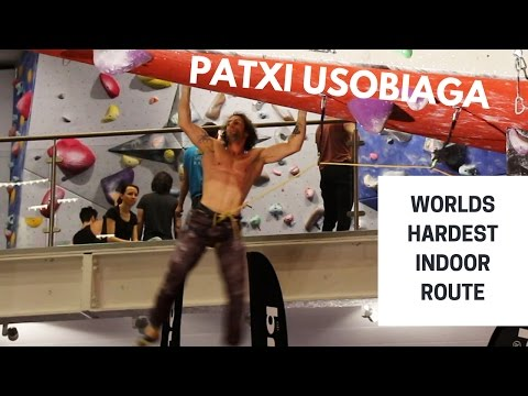 Patxi Usobiaga on The Black Diamond Project - Worlds hardest indoor route
