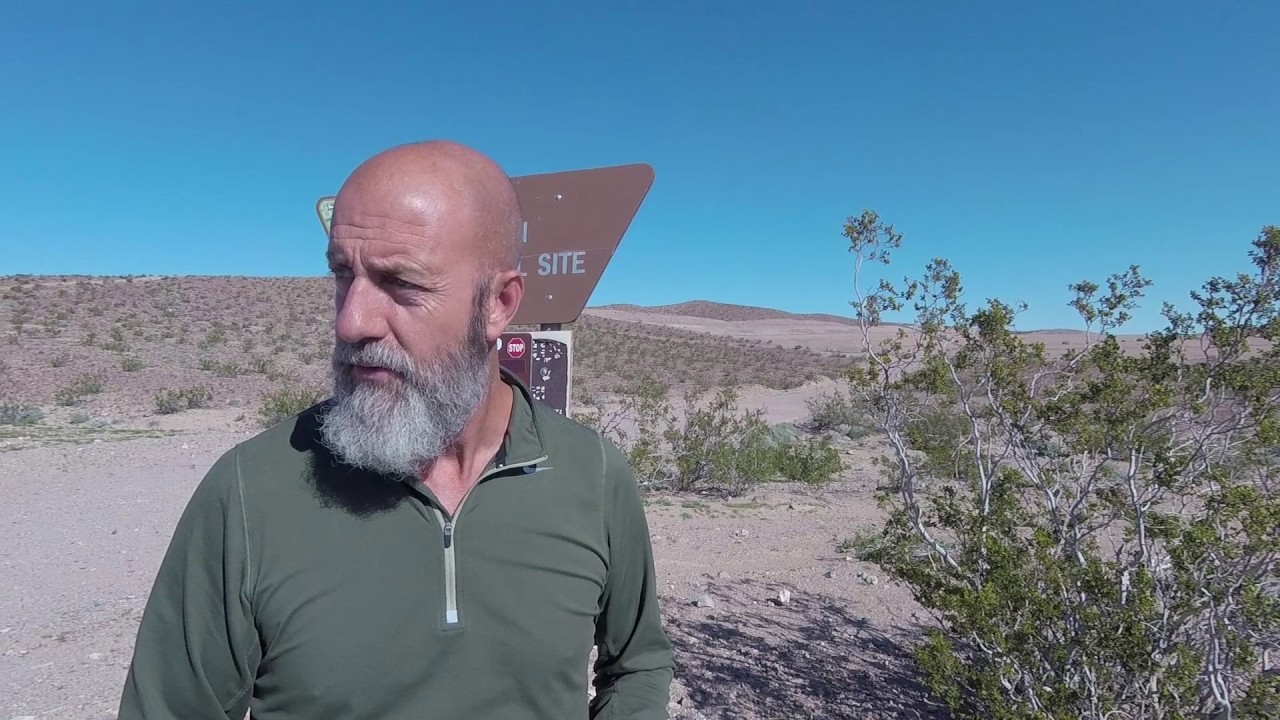 Boondocking by Calico Early Man Site. Roadtrek Van Life.