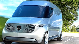 Mercedes Vision Van Electric + Autonomous Drone Delivery Promo Electric Mercedes Vito 2017 CARJAM