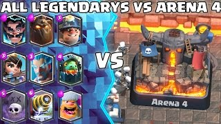 ALL Legendary Deck TROLLING Arena 4! - Clash Royale - (Drop Trolling #1) thumbnail