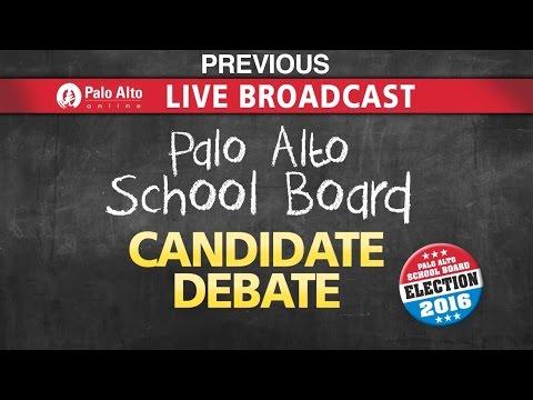 Palo Alto School Board Candidates Debate