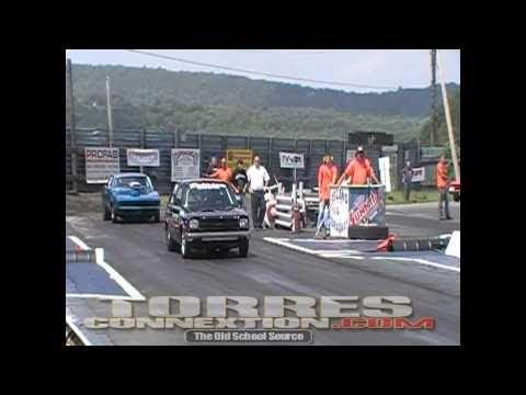 Santiago Racing Toyota Starlet Crash 8/8/10 At Island Dragway