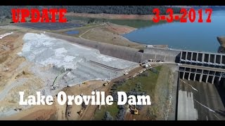 new drone video   lake oroville dam   update 3 3 2017