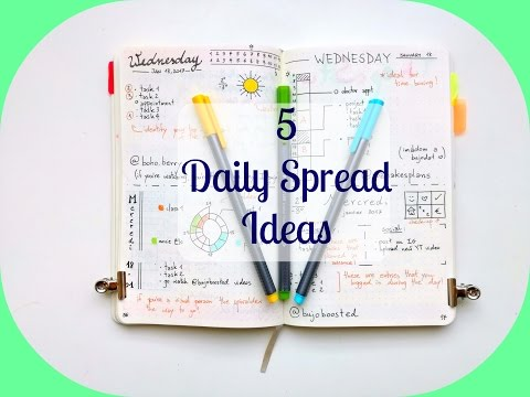 5 Daily-Spread Layouts | The Boosted Journal
