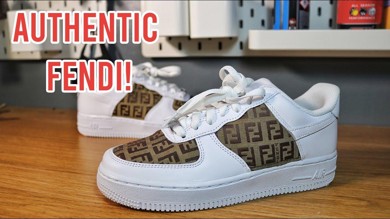 Custom FENDI AF1 - YouTube