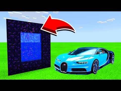 How To Make A Portal To BUGATTI In Minecaft Pocket Edition/MCPE