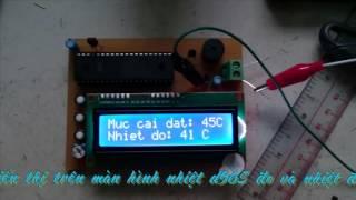 Đo nhiệt độ và cảnh báo nhiệt độ cao dùng AVR ( Atmega 16 )