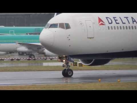Awesome Delta Boeing 767-300 N194DN with Winglets Take-Off from Dublin!!!