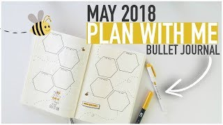 Bullet Journal PLAN WITH ME May 2018 | HEXAGON WEEKLY SPREAD