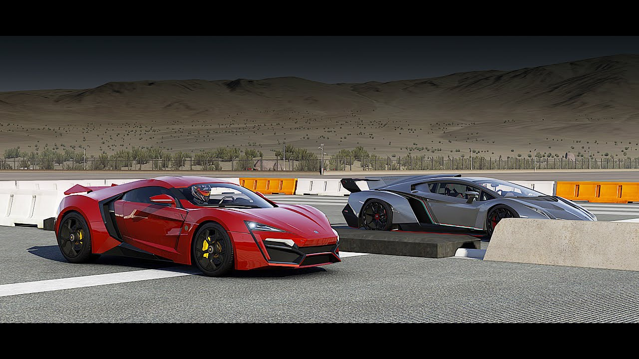 lykan hypersport vs lamborghini veneno drag race | forza 6 - youtube