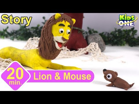 Lion and the Mouse Story | Panchatantra Stories for Children | 3d Animated English Stories - KidsOne
