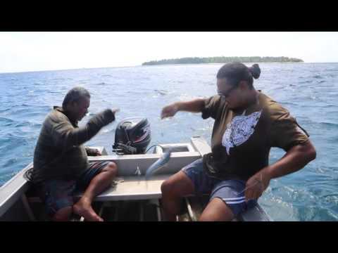 Tuvalu Funafuti area Pêche traditionnelle en haute mer / Tuvalu Funafuti Fishing
