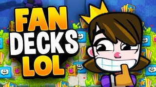 FANS MAKE MY Mini Collection DECK in CLASH ROYALE.. YIKES!!!