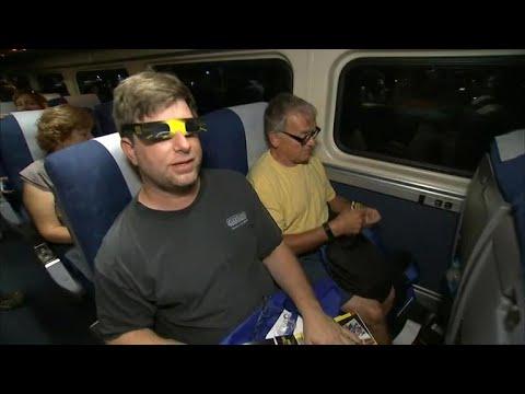 Solar eclipse enthusiasts take Amtrak in Illinois