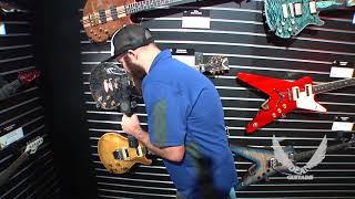 NAMM 2018 Dean Guitars-USA Thoroughbred Buckeye Burl Custom/Floyd plain top