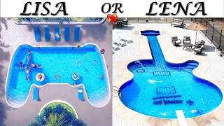 LISA OR LENA 💖 Most Beautiful Pools EVER  Amazing Amusement, Holiday Places in the WORLD. Pinkazina